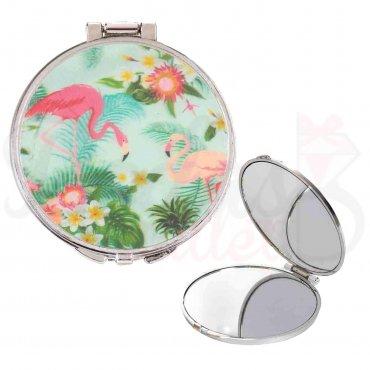 Miroir de Poche Flamant Rose