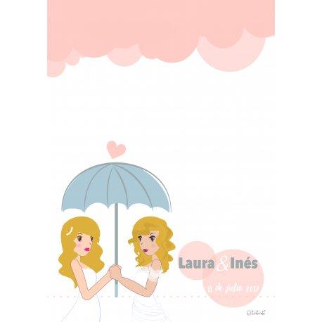 Affiche a Empreinte Mariage