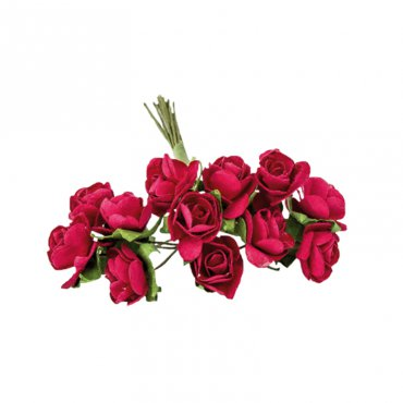 Décoration fleur en papier rouge