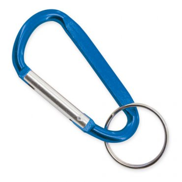 Porte-clés Mousqueton Bleu