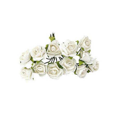 Fleur en Papier pas Cher Blanc