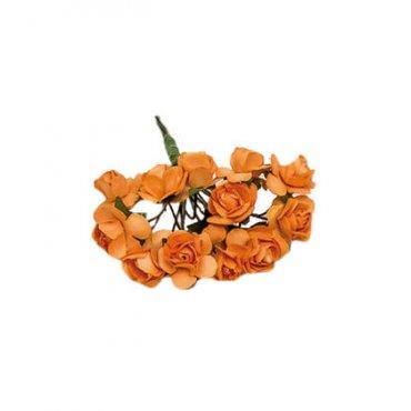 Fleur en Papier Orange