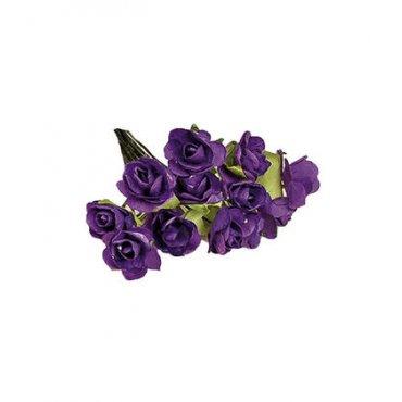 Fleur Violette en Papier pas Cher