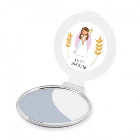 Miroir Personnalisé Communion Fille