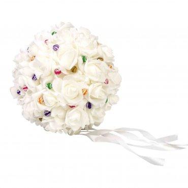 Bouquet Mariée Artificiel Boule pas Cher