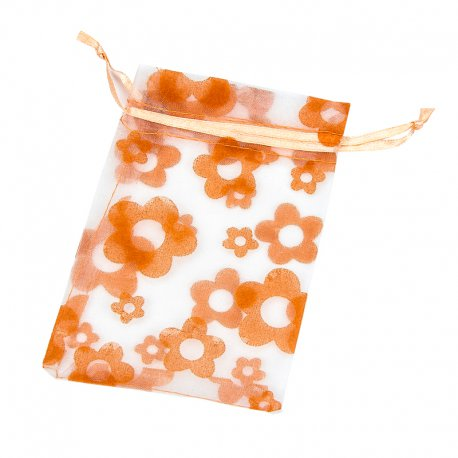Sachet Organza pas cher Orange 14 x 10