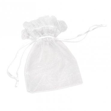 Pochettes en organza Blanc 13 x 10