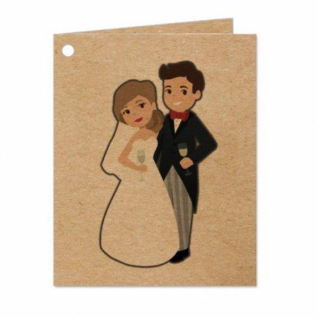 Cartes Kraft Cadeaux de Mariage (18)