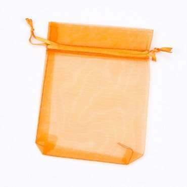 Pochette Organza pas Cher Orange 12 x 9