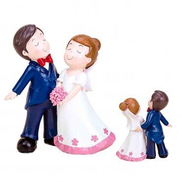 Figurine pour Gateau Mariage Mrs et Mr Pim