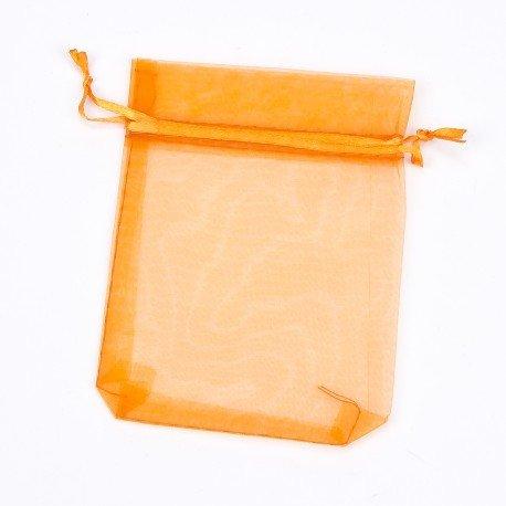 Sachets Organza pas cher orange 17 x 12