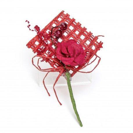 Petite Fleur Artificiel Rouge
