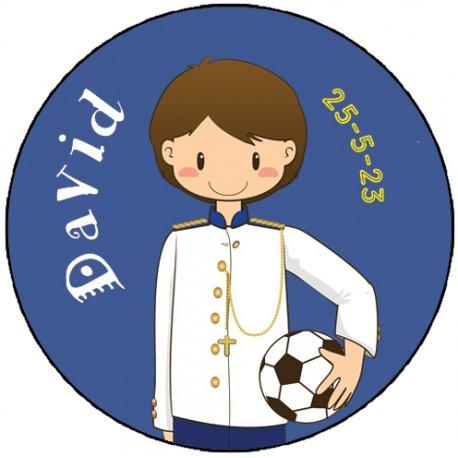 Étiquettes Communion Football (20)