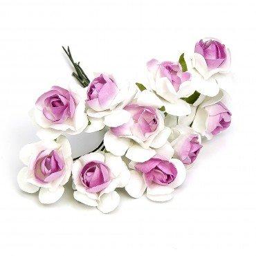Fleurs en papier pas cher Rose et Blanc