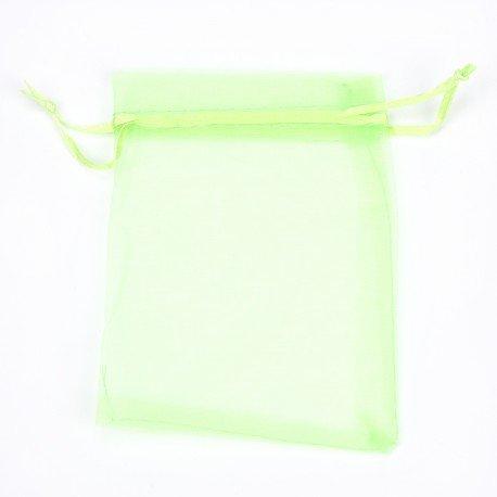 Sachet Organza pas Cher Vert 12 x 9