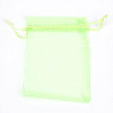 Sachet Organza vert 10 x 7. 5