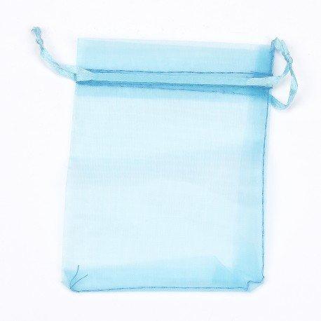 Sachet Organza Couleur Turquoise 10 x 7.5
