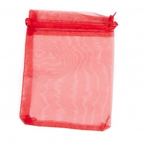 Petit Sac<strong> Organza </strong>Rouge 8 x 6