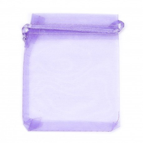 Pochettes Violettes en<strong> Organza </strong>8 x 6