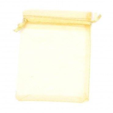 Petite Pochette Dorée en Organza 8 x 6