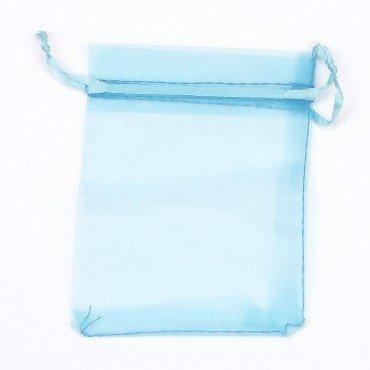 Petit Sac en organza Turquoise 8 x 6