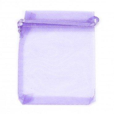 Pochette Organza Grande Taille Violet 23 x 16.5