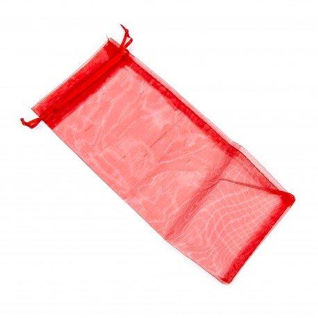 Sachet  Organza Rouge 25 x 11