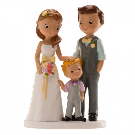 Figurine Mariés avec petit Garçon