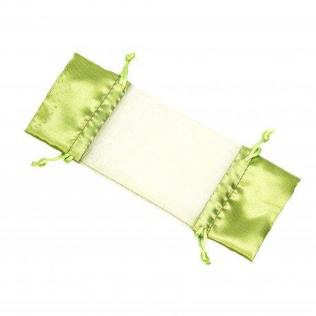 Sachet Organza Vert en Forme de Bonbon