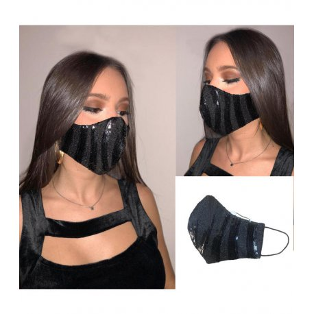 masque tissu festif