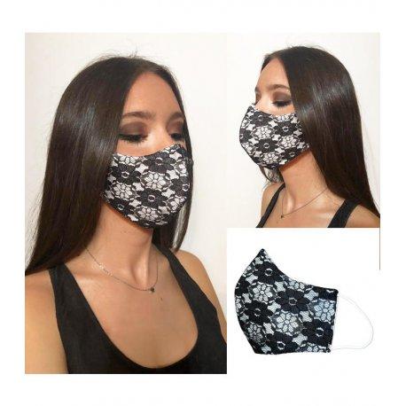 masque dentelle noir