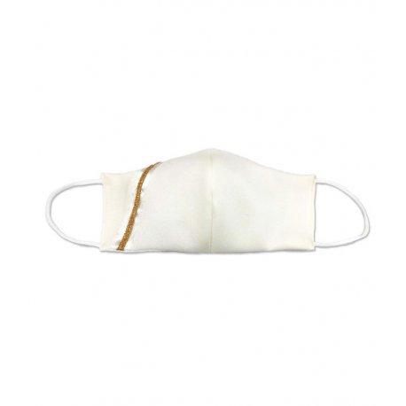 masque première communion blanc