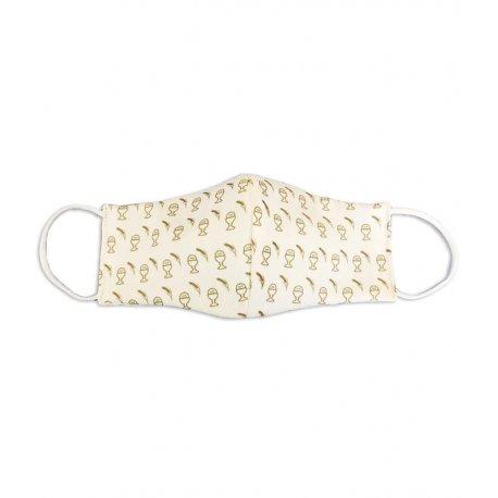 masque tissu communion calice