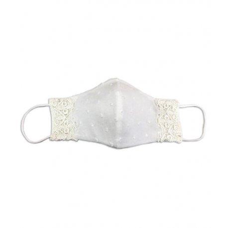 masque lavable plumetis