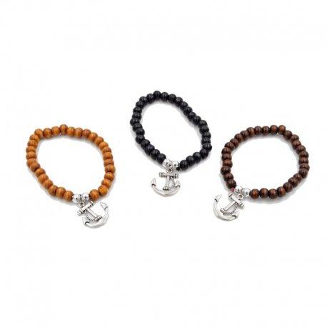 lot de 12 bracelets ancre maritime