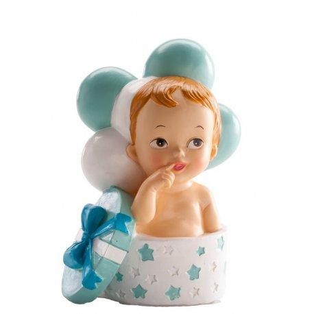 figurine baptême petit garçon