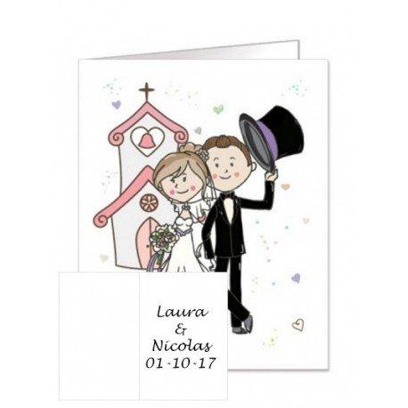 Carte Originale Cadeaux de Mariage
