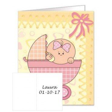 Carte Cadeau pour Baptême Fille