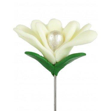 Broche Mariage Fleur en Pate Fimo
