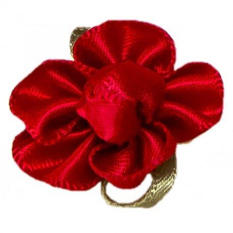Fleur Tissu Rouge