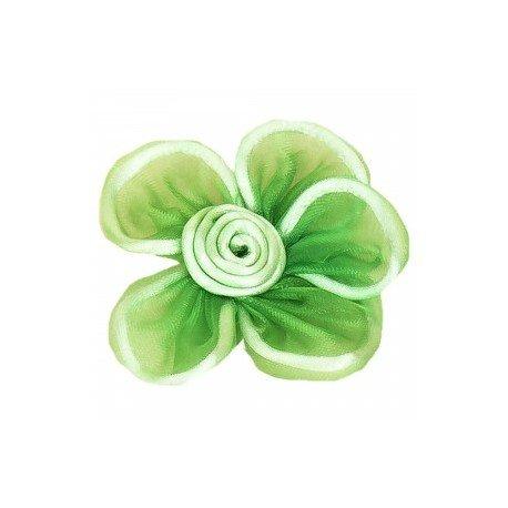 Fleur en Tissu Vert