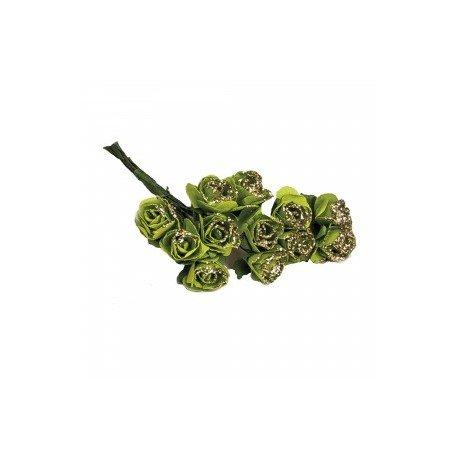 Fleurs en Papier Vert