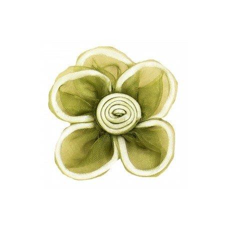 Fleurs en Tulle Verte