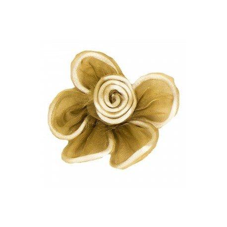 Fleur Tulle mMarron