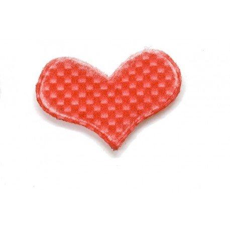 Coeurs en tissu Rouge
