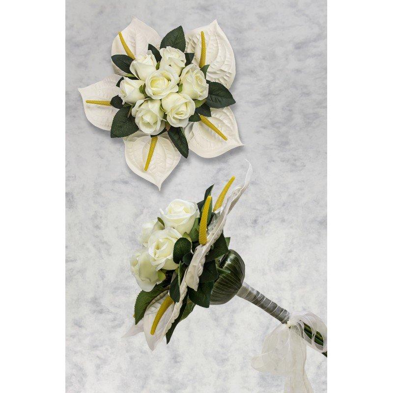 bouquet de fleurs artificielles mariage. Black Bedroom Furniture Sets. Home Design Ideas