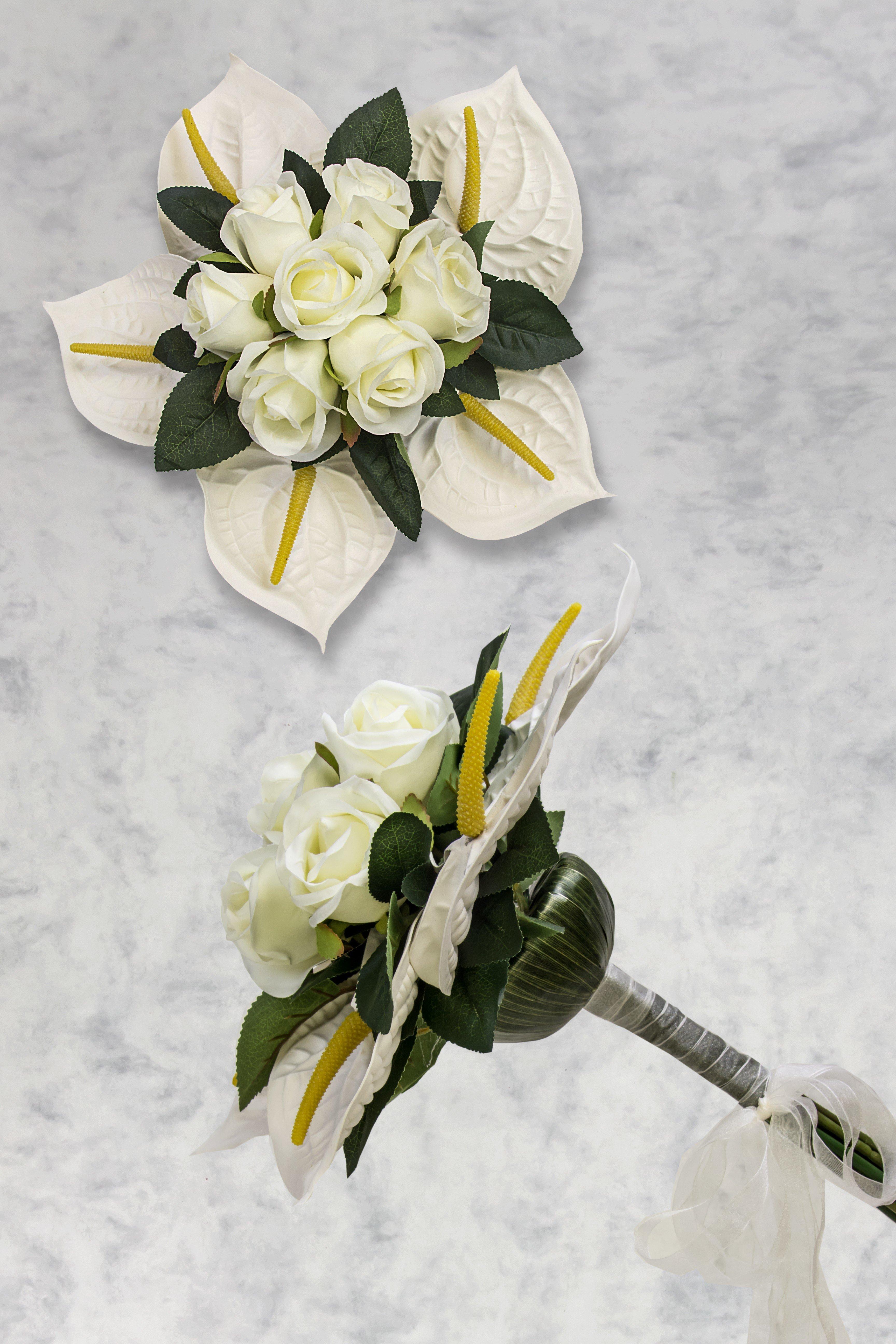 bouquet fleurs artificielles mariage. Black Bedroom Furniture Sets. Home Design Ideas