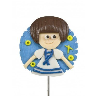 Broche en Pate Fimo Communion Fille