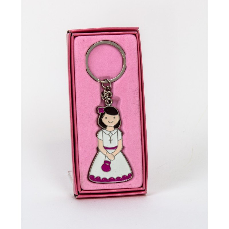 Porte cl cadeau communion fille - Cadeau porte cle photo ...
