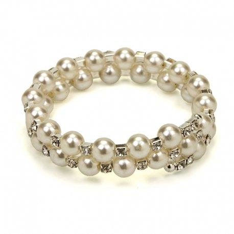Bracelet en Perle Blanche